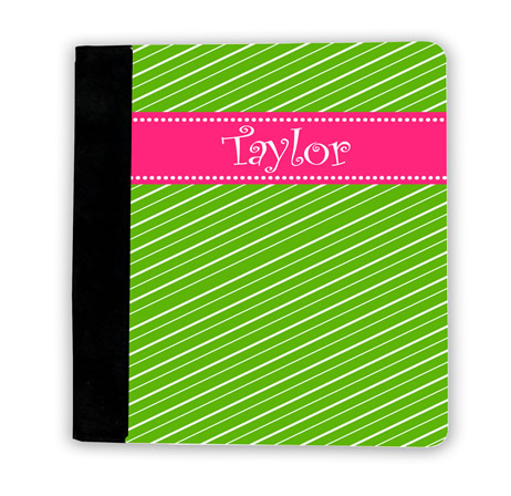 Fun Stripes - Green with Pink iPad Jackets