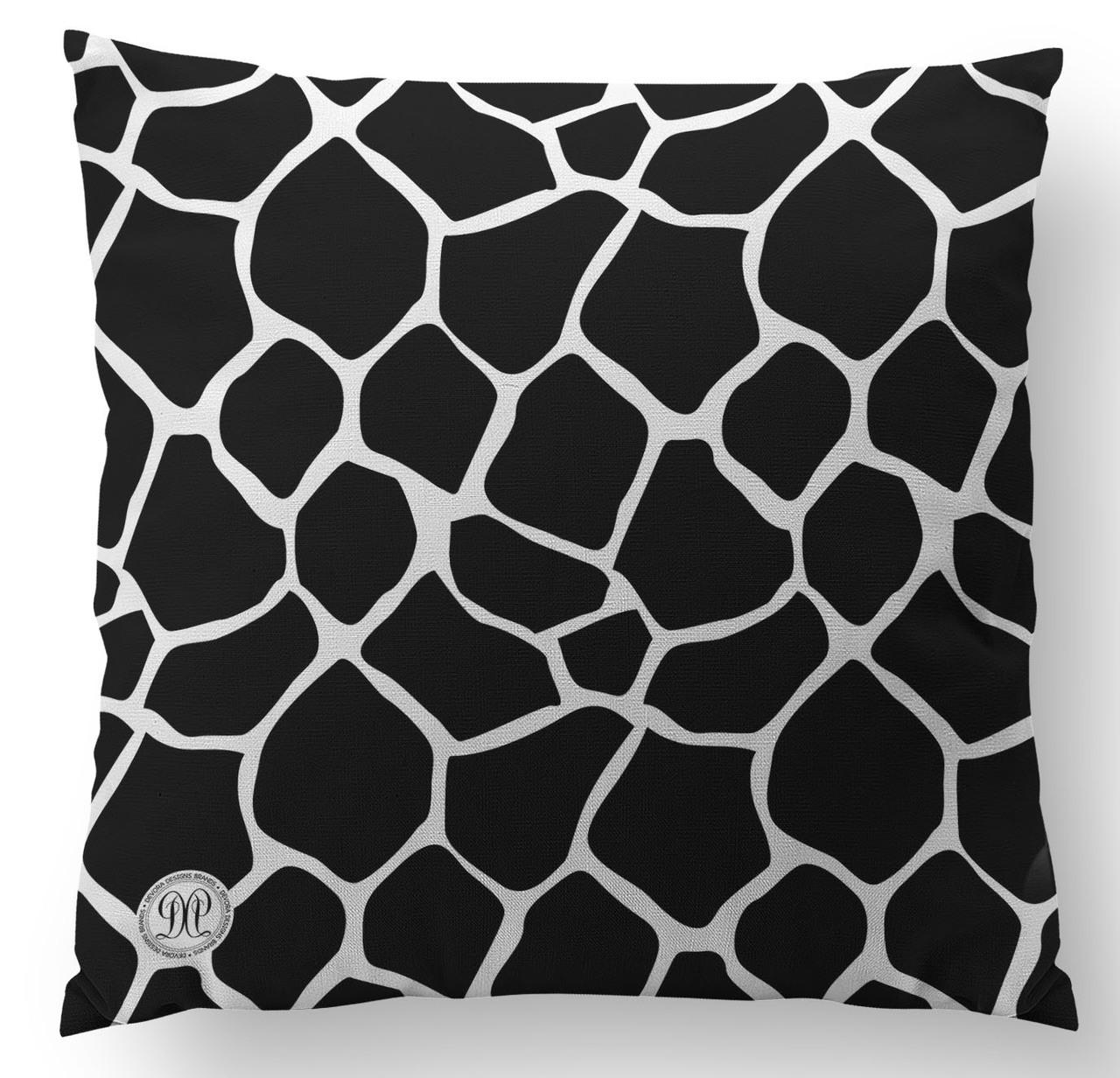 Always Kiss Me Goodnight with Giraffe Back Custom Designer Pillow - BACK