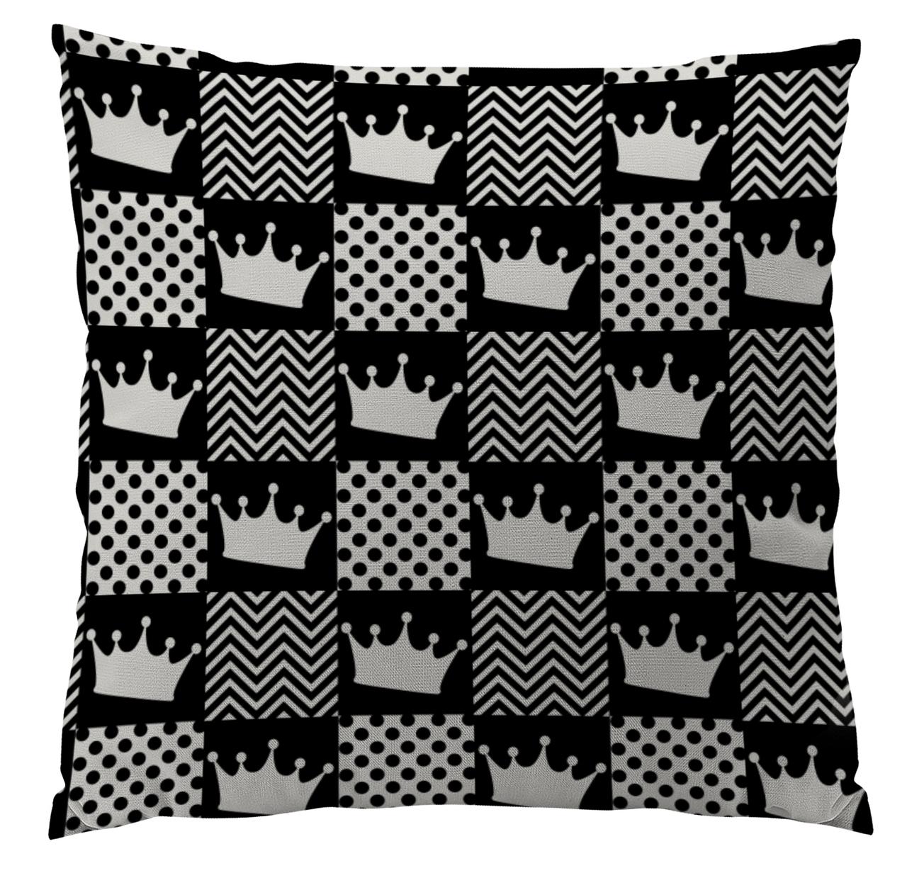 Black Crown Custom Designer Pillows