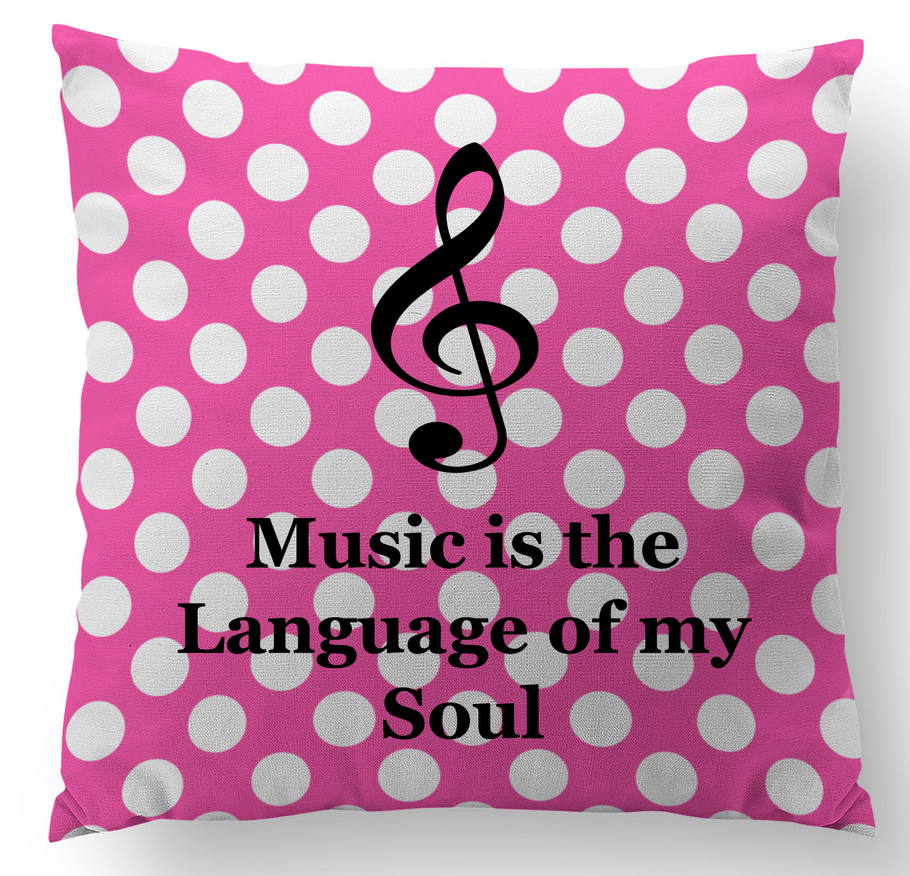 Music is the Language of My Soul Name Custom Designer Pillow