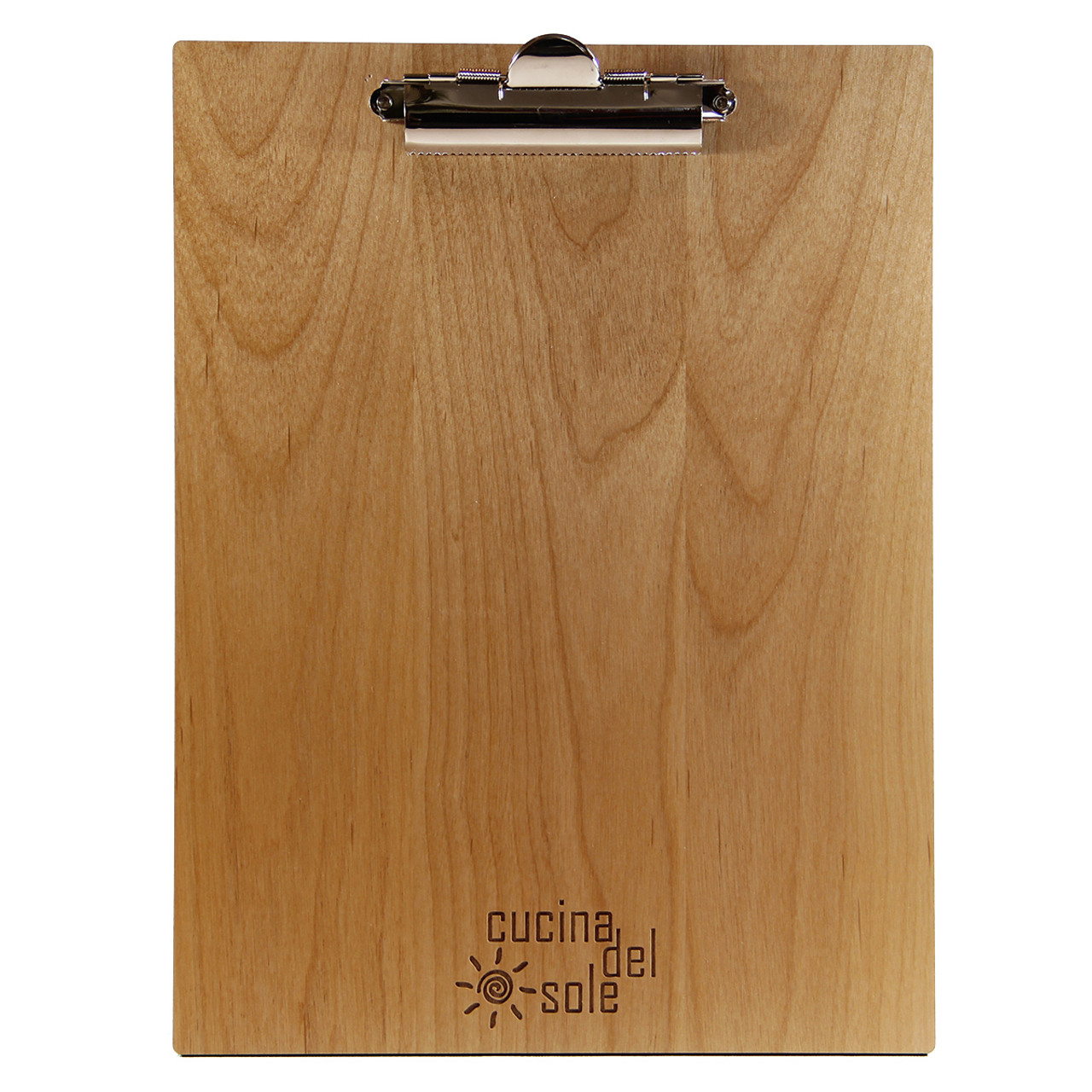 Very Alder Wood Menu Board with Clip 4.25 x 11 RU11