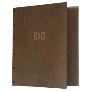 Riveted Stained Hardboard Three Ring Binders