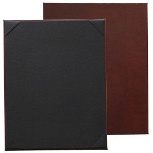 Bonded Leather Menu Board with Corners or Strips