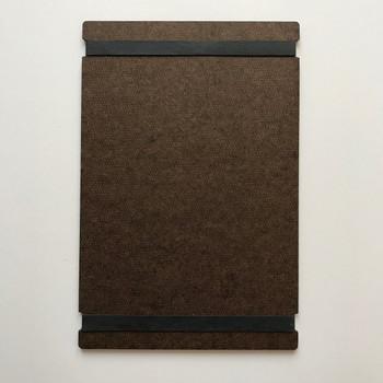 Hardboard Menu Board with Bands 5.5 x 8.5 Back View