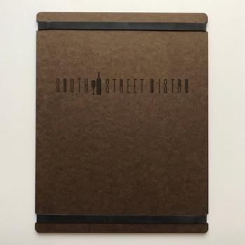 Hardboard Menu Board with Bands 8.5 x 11