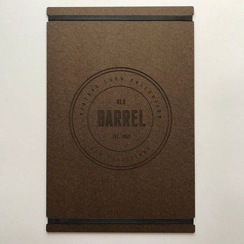 Hardboard Menu Board with Bands 11x17