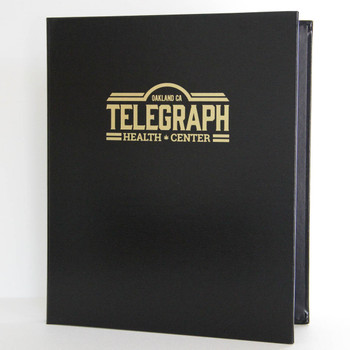 """Bonded Leather Three Ring Binder shown in 8.5"""" x 11"""" size"""
