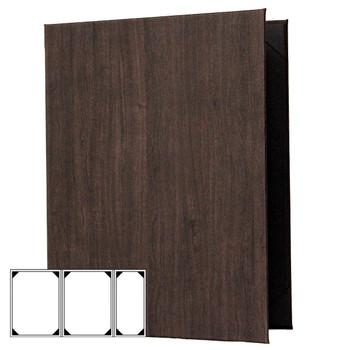 Wood Look Menu Cover Three View (Double+ Half)