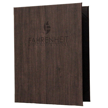 Wood Look Menu Cover with Logo
