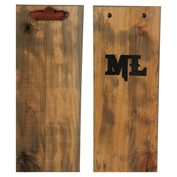 Wood Board with Clip (size shown in photo is 4.25x11)