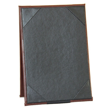 Bonded Leather Two View Table Tent 8.5 x 14