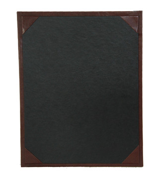 Bonded Leather Menu Board with Corners
