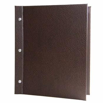 Ostrich Chicago Menu Board shown in dark brown with aluminum screws