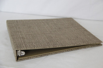 Bahama Weave Three Ring Binder laying flat.