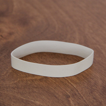 White small menu bands for restaurant menu boards.