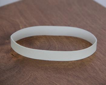 Large white menu bands for restaurant menu boards.