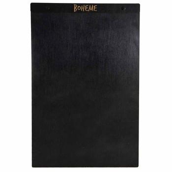 "Baltic Birch Wood Menu Board with Screws 11"" x 17"" in black stain with black screws"