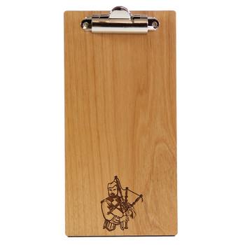 Solid alder wood check presenter with clip.