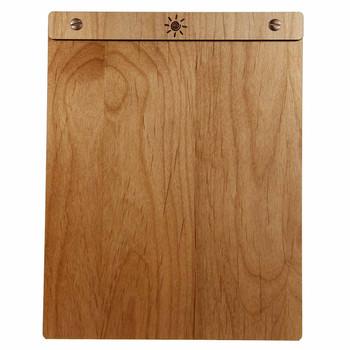 Alder Wood Menu Board with Screws - Front View