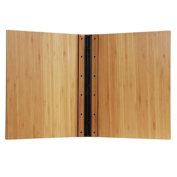 Riveted Bamboo Wood Screw Post Menu Cover Interior