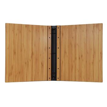Riveted Bamboo Wood Three Ring Binder Interior