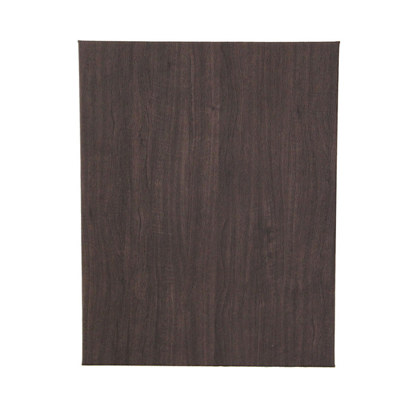 Wood Look One View Menu Cover Back