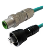 M12 4 Position IP67 D-Coded Male Straight to IP67 RJ45