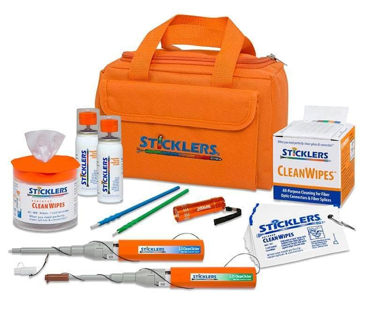 Sticklers™ High-Volume Fiber Optic Cleaning Kit (2,300+ cleanings)