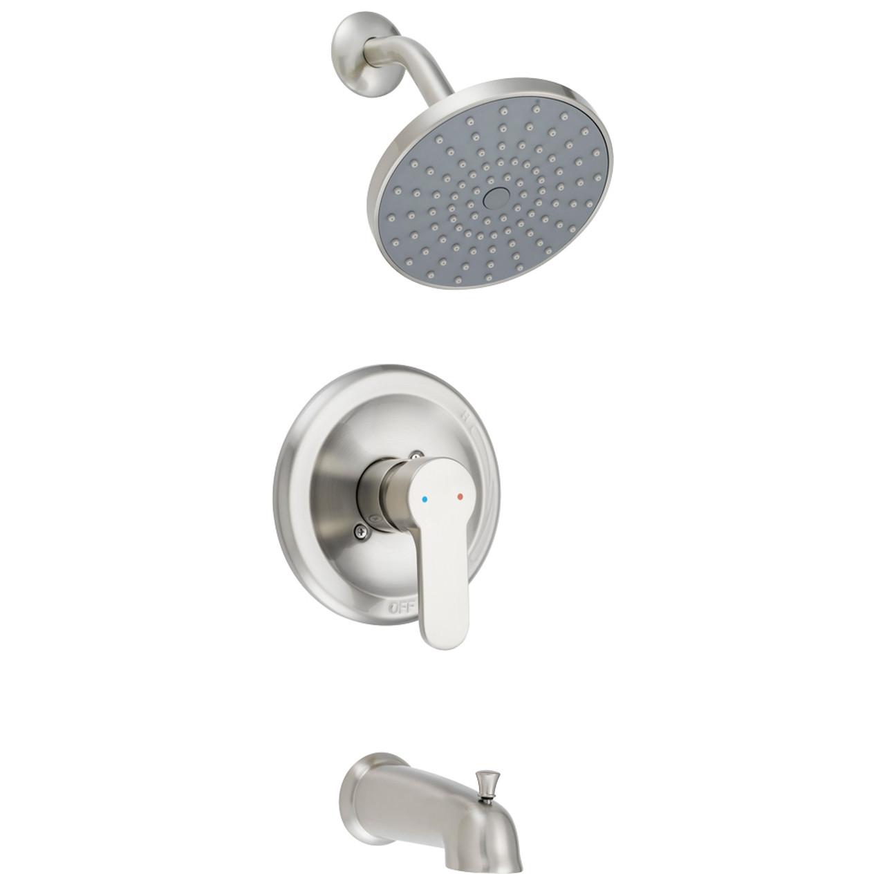 Designers Impressions 615717 Satin Nickel Single Handle Tub / Shower ...