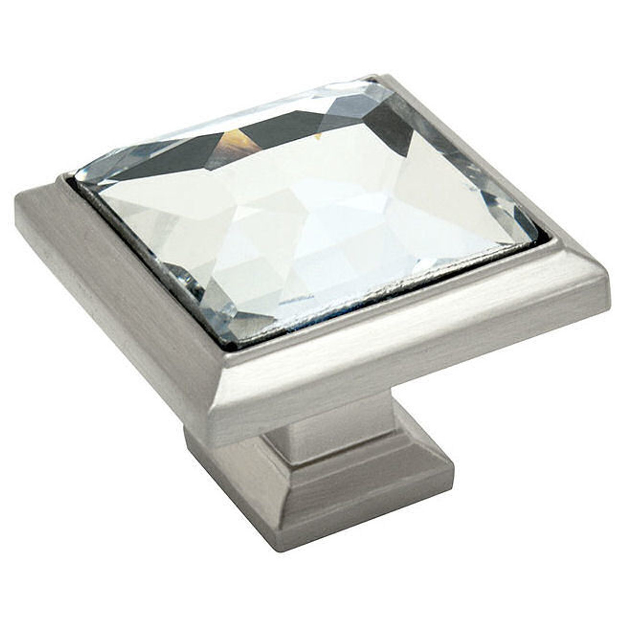 Delicieux Cosmas 5883SN C Satin Nickel U0026 Clear Glass Square Cabinet Knob