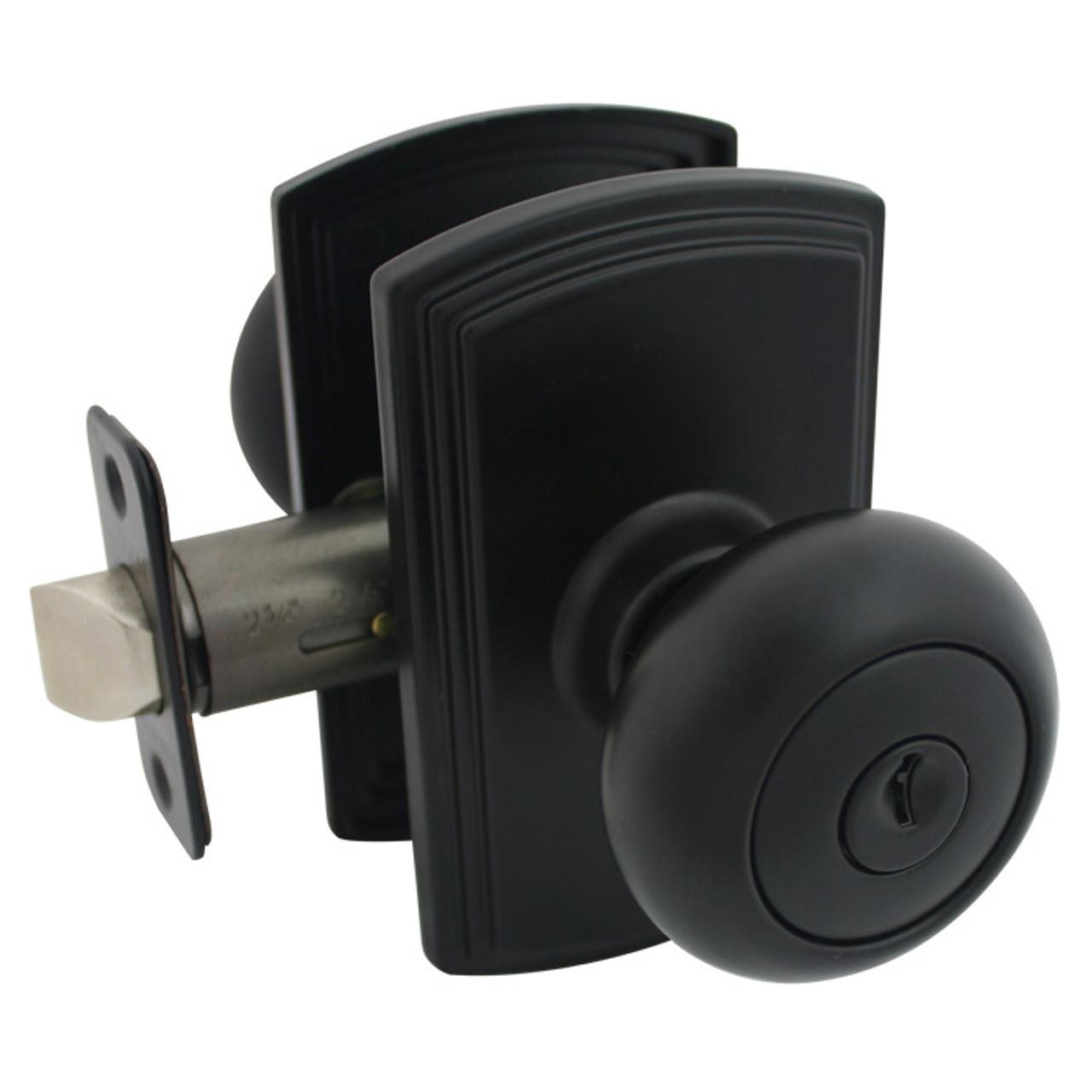 Delaney Santo Design Black Entry Door Knob (Front U0026 Back): 100T SN