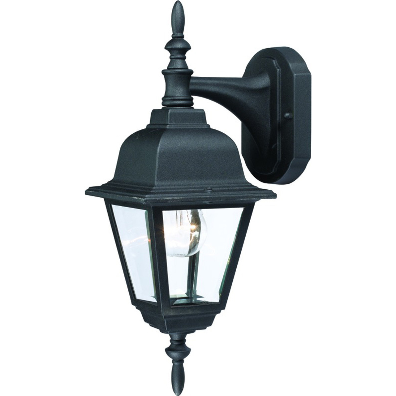 Black Outdoor Patio / Porch Exterior Light Fixture : 55-2364 ...