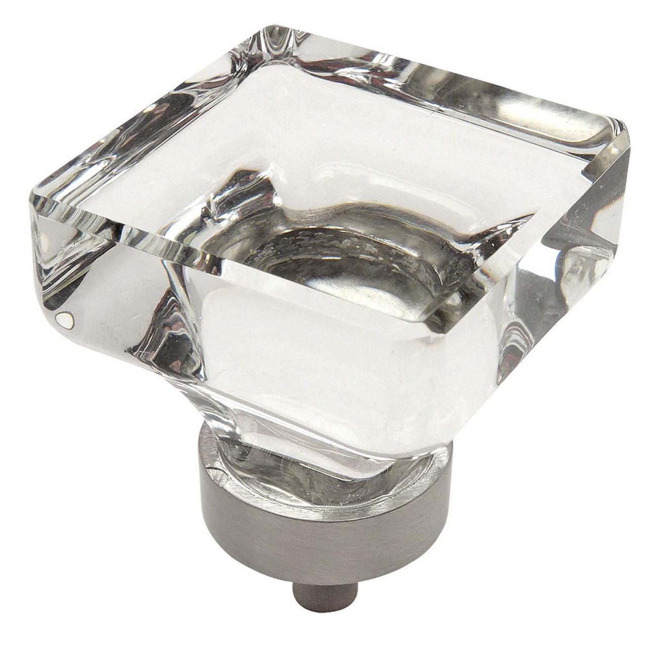 Merveilleux Cosmas 6377SN C Satin Nickel U0026 Clear Glass Square Cabinet Knob