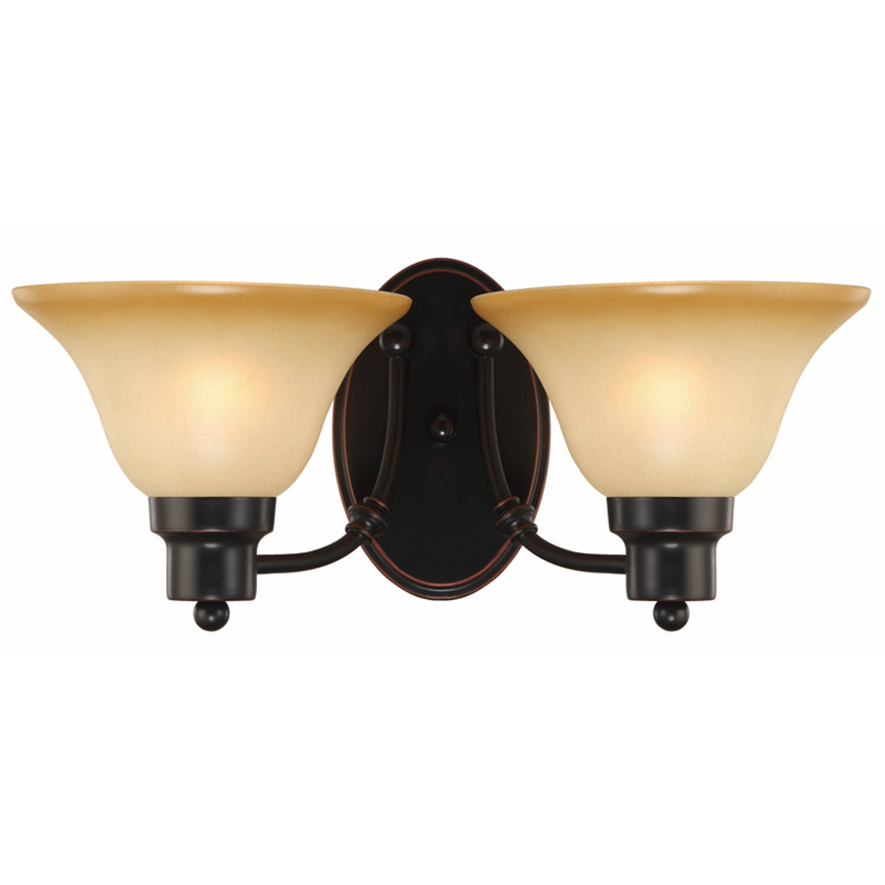 Oil Rubbed Bronze 2 Light Wall Sconce Bathroom Fixture 16 7222