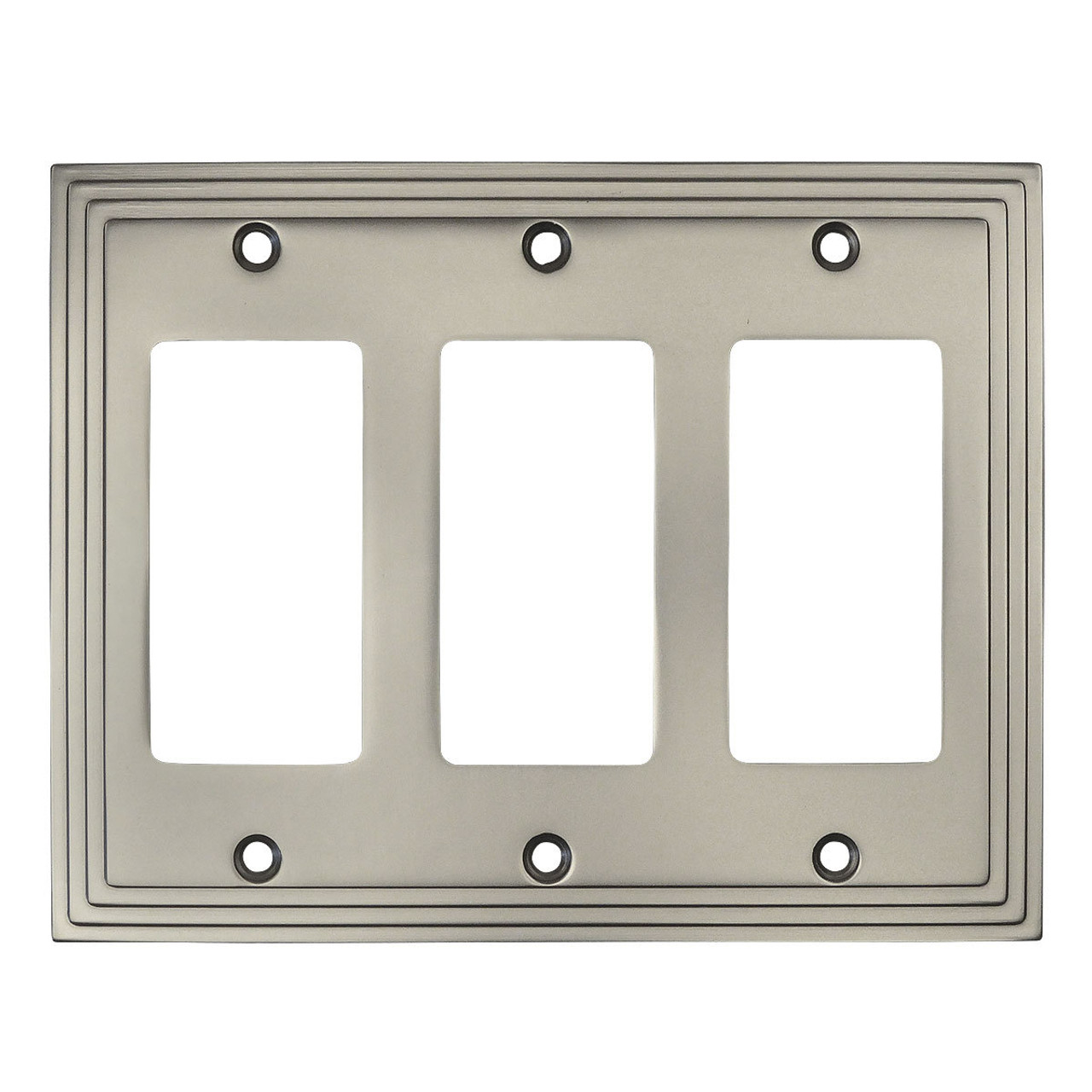 Cosmas 25084 Sn Satin Nickel Triple Gfci Decora Wall Plate
