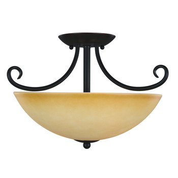 Oil Rubbed Bronze Semi-Flush Mount Ceiling Light Fixture : 16-4177