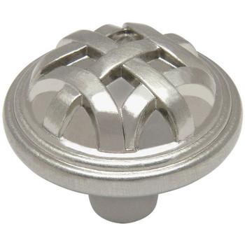 Cosmas 7064SN Satin Nickel Braided Cabinet Knob