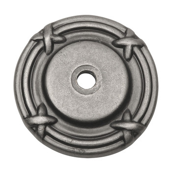 Cosmas 9468WN Weathered Nickel Cabinet Knob Backplate