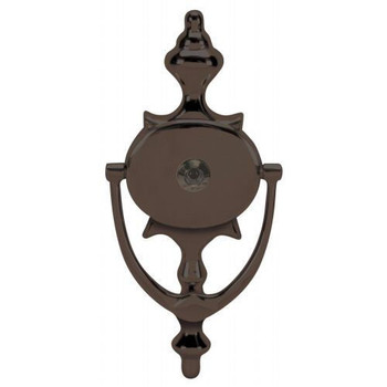 "Oil Rubbed Bronze 8"" Door Knocker with Viewer: 55-2117"