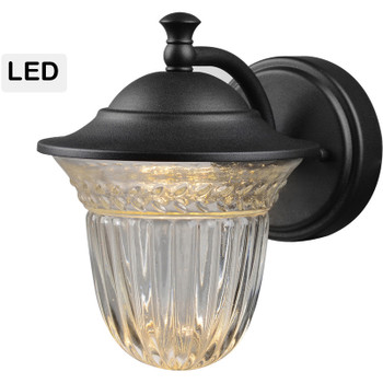 Black Outdoor Patio / Porch Exterior LED Light Fixture: 21-1772-Small