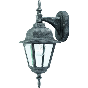 Antique Silver Outdoor Patio / Porch Exterior Light Fixture : 54-4304