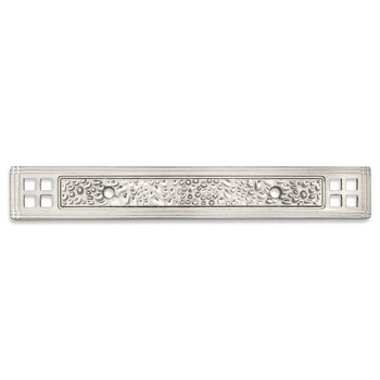 Cosmas 10554SN Satin Nickel Zinc Cabinet Pull Backplate