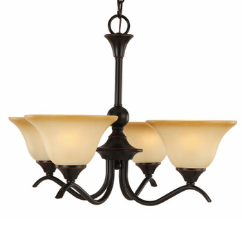 Oil Rubbed Bronze 4 Light Chandelier : 16-7710
