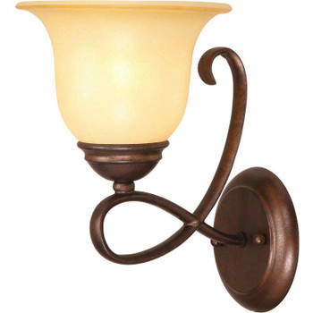 Bennington Antique Bronze 1 Light Bath/Wall Light Fixture: 10-1219