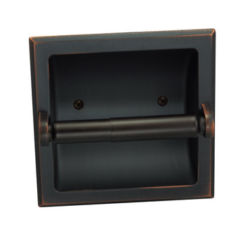 Designers Impressions Oil Rubbed Bronze Recessed Toilet / Tissue Paper Holder Mounting Bracket Included: 49687