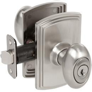 Delaney Canova Design Satin Nickel Entry Door Knob (Front & Back): 100T-CN-US15
