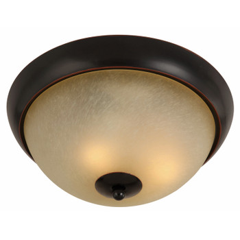 Oil Rubbed Bronze Flush Mount Ceiling Light Fixture : 16-7970