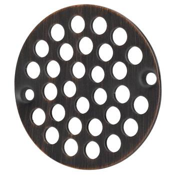 "Designers Impressions 651816 Oil Rubbed Bronze 4"" Diameter Drain Cover Strainer"