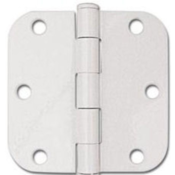 "White Door Hinge 3.5"" with 5/8"" Radius Corners"