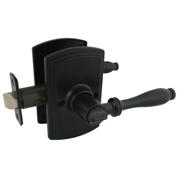 Delaney Sorado Design Black Privacy Door Lever (Bed & Bath): 502T-SO-BLACK
